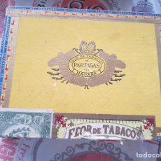 Cajas de Puros: CAJA DE PUROS VACIA PARTAGAS. Lote 174469762