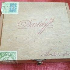 Cajas de Puros: CAJA DE PUROS DAVIDOFF 25 AMBASSADRCE CUBA HABANA. Lote 174587012