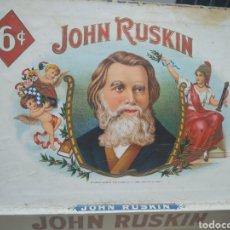 Cajas de Puros: CAJA DE PUROS JONH RUSKIN. Lote 174984573
