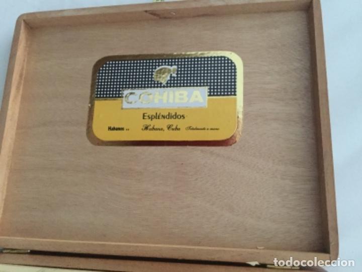 Cajas de Puros: Caja de puros Cohiba contiene tres puros Cohiba, en perfecto estado - Foto 6 - 174998908