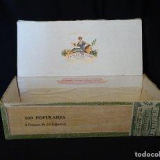 Cajas de Puros: RARA Y ANTIGUA CAJA DE PUROS HABANOS LA FLOR DE CANO.. Lote 175102063
