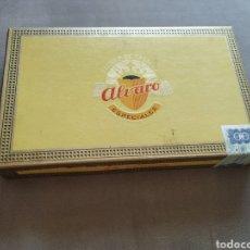 Cajas de Puros: ANTIGUA CAJA PUROS ALVARO CEDRO + 6 PUROS CEDRO. Lote 175115390