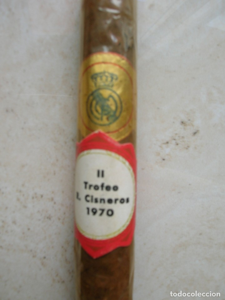 Cajas de Puros: Puro personalizado. II Trofeo Rafael Cisneros.1970.Futbol.Arcos-Bornos ( Cádiz ).Real Madrid - Foto 2 - 175150968