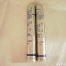 Cajas de Puros: 2 PUROS CUBANOS CORONA CLUB TROYA. ENVASE DE ALUMINIO. Lote 175257054