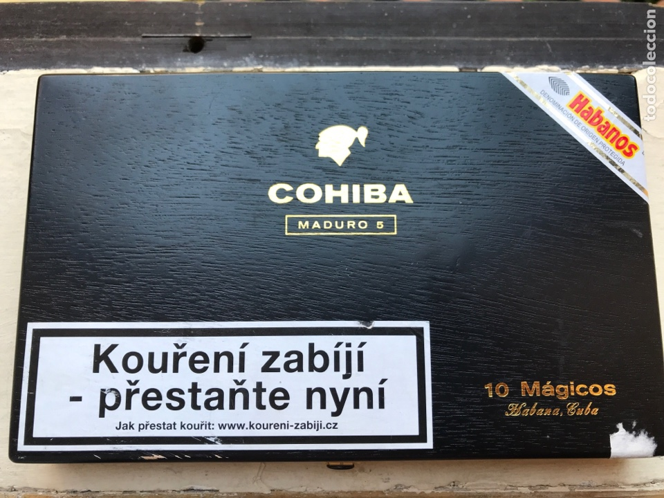 CAJA DE PUROS COHIBA. MADURO 5 (Coleccionismo - Objetos para Fumar - Cajas de Puros)