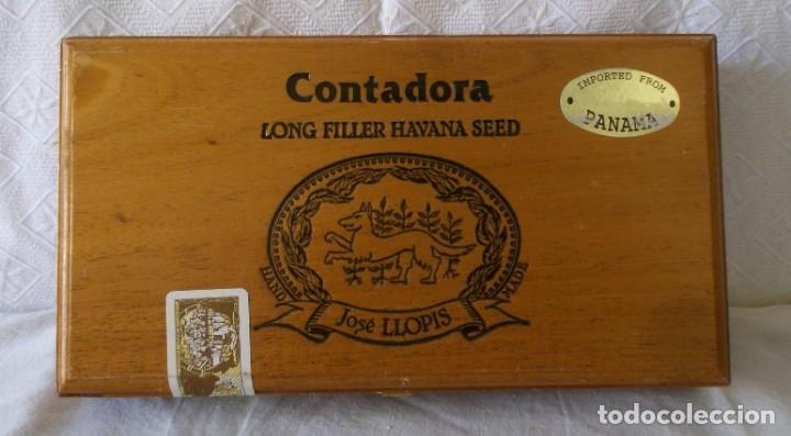CAJA PUROS JOSE LLOPIS-CONTADORA (Coleccionismo - Objetos para Fumar - Cajas de Puros)