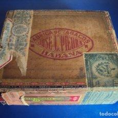 Cajas de Puros: (TA-190900)CAJA FABRICA DE TABACOS JOSE L.DE PIEDRA - HABANA - CUBA - SELLO REPUBLICA AÑOS 30. Lote 175837307