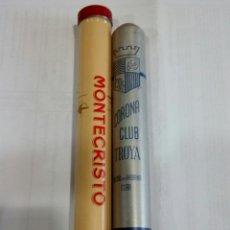 Cajas de Puros: LOTE DE 2 TUBOS DE PUROS (VACÍO). Lote 176150199
