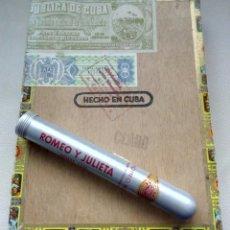 Cajas de Puros: 2 ROMEO Y JULIETA NO. 1 Y CAJA + CEDRITO ROMEO. Lote 176751109