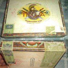 Cajas de Puros: CAJA PUROS TROYA FABRICA DE TABACOS MARTINEZ Y CIA HABANA CUBA VACIA. Lote 176779179