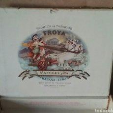 Cajas de Puros: CAJA DE PUROS. VACÍA. TROYA. HABANA-CUBA.. Lote 177025072