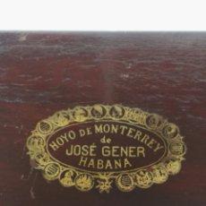 Cajas de Puros: CAJA VACIA PUROS HOYO DE MONTERREY JOSE GENER HABANA ANTIGUA. Lote 177386910