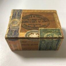 Cajas de Puros: CUBA. FABRICA DE TABACOS QUINTERO Y HERMANOS. CIENFUEGOS-CUBA. CAJA VACIA. VER FOTOS.. Lote 177550962