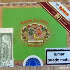 Cajas de Puros: RAMON ALLONES - FLOR EXTRAFINA - HABANA - CAJA DE MADERA DE CIGARROS PURO - CONTIENE UN PURO. Lote 177713397
