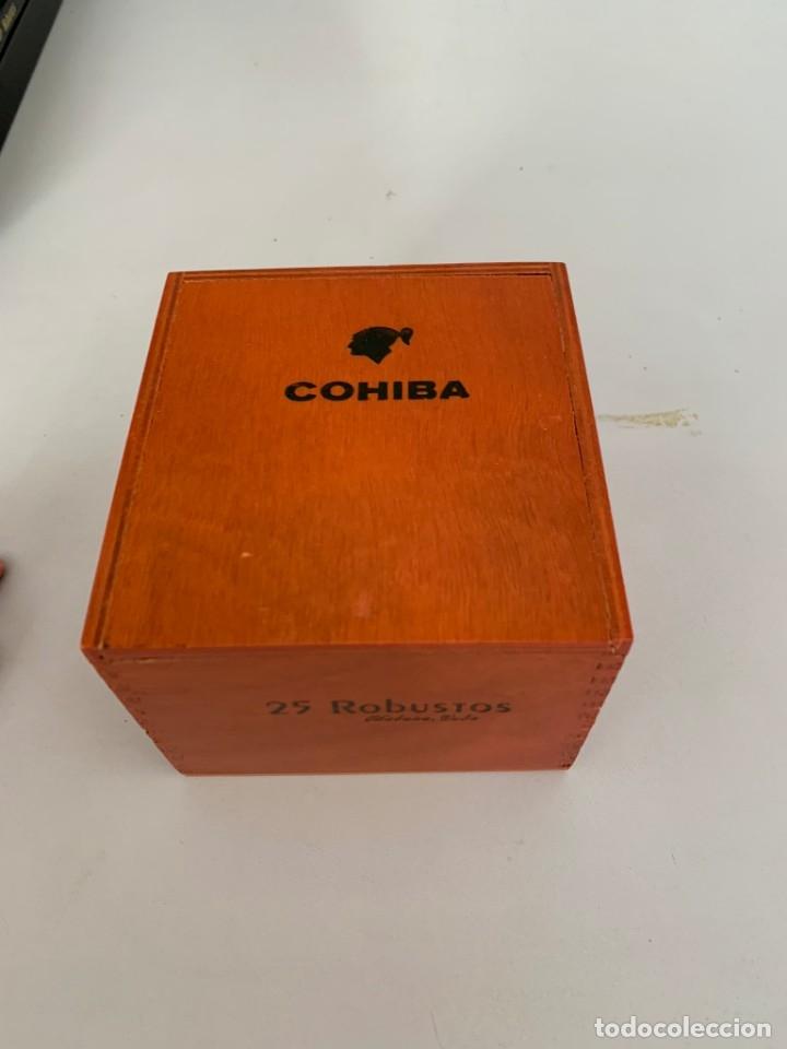 CAJA VACIA DE PUROS COHIBA ROBUSTOS (Coleccionismo - Objetos para Fumar - Cajas de Puros)