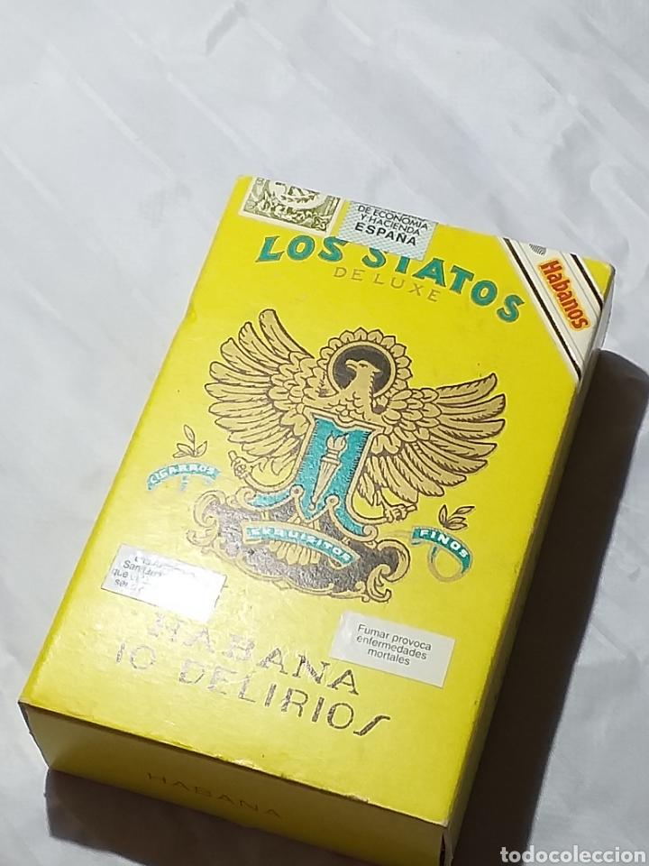 CAJA DE PUROS CON 10 PUROS SIN ABRIR LOS STATOS DE LUXE HABANA (Coleccionismo - Objetos para Fumar - Cajas de Puros)