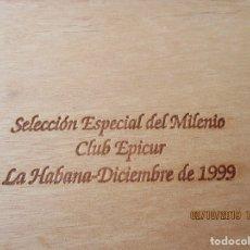 Cajas de Puros: H. UPMANN. HABANA. SELECCION ESPECIAL MILENIO. CLUB EPICUR. LA HABANA. DICIEMBRE 1999. CAJA VACIA. Lote 178036109