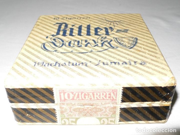 Cajas de Puros: ANTIGUA CAJA PUROS RITTER DANK MACHSTUM: SUMATRA - Foto 2 - 178051702
