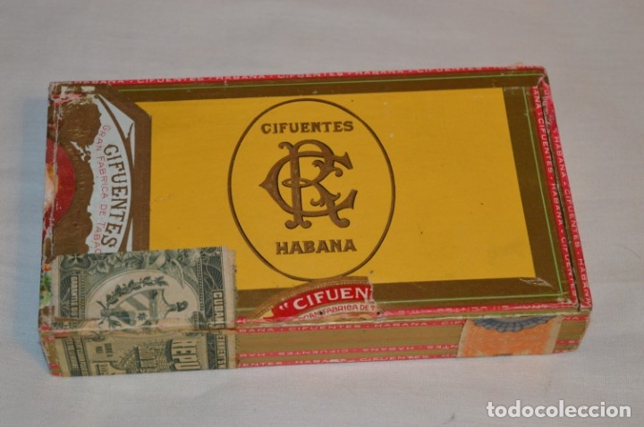 CAJA DE PUROS VACÍA, ANTERIOR RÉGIMEN - DE COLECCIÓN - CIFUENTES - HABANA - MIRA LAS FOTOS (Coleccionismo - Objetos para Fumar - Cajas de Puros)