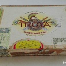 Cajas de Puros: CAJA DE PUROS HABANOS TROYA, DE MARTÍNEZ Y CIA.. LA HABANA, CUBA. Lote 178254030