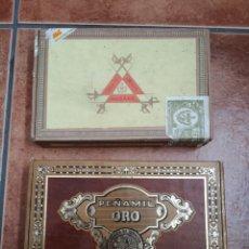 Cajas de Puros: DOS CAJAS DE PUROS MONTECRISTO N 5 Y PEÑAMIL ORO. Lote 178446688