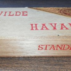 Cajas de Puros: CAJA DE PUROS CERRADA. WILDE HABANA. AÑOS 60. VER FOTOS. MEDIDAS : 16.5 X 9 X 3.5 CM APROX.. Lote 178641725