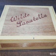 Cajas de Puros: CAJA DE PUROS CERRADA. WILDE PANATELLA. HABANA. AÑOS 60. VER FOTOS. MEDIDAS : 16.5 X 14 X 5 CM APROX. Lote 178642166