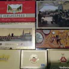 Cajas de Puros: MONTECRISTO N4 Y GALÁN CRISTAL PRECINTADOS , ÁLVARO Y AGIO COMPLETAS ABIERTAS Y LAS DEMÁS IDEM. Lote 178722787