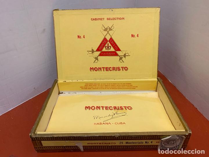 Cajas de Puros: CAJA DE PUROS HABANOS - VACIA - MONTECRISTO. Mide aprox 22x14x3,5cms - Foto 3 - 179022773