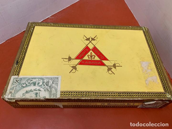 Cajas de Puros: CAJA DE PUROS HABANOS - VACIA - MONTECRISTO. Mide aprox 22x14x3,5cms - Foto 4 - 179022773
