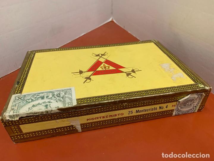 CAJA DE PUROS HABANOS - VACIA - MONTECRISTO. MIDE APROX 22X14X3,5CMS (Coleccionismo - Objetos para Fumar - Cajas de Puros)