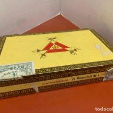 Cajas de Puros: CAJA DE PUROS HABANOS - VACIA - MONTECRISTO. MIDE APROX 22X14X3,5CMS. Lote 179022773