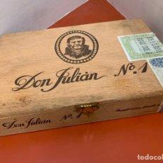 Cajas de Puros: CAJA DE PUROS HABANOS - VACIA - DON JULIAN, N.1. MIDE APROX 24X16X4CMS. Lote 179022851
