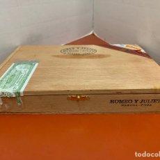 Cajas de Puros: CAJA DE PUROS HABANOS - VACIA - ROMEO Y JULIETA. MIDE APROX 22X16X3,5CMS. Lote 179023037