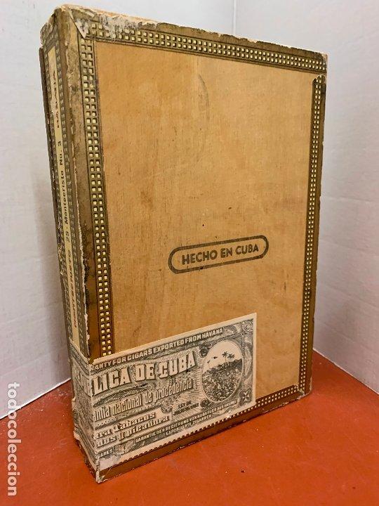 Cajas de Puros: CAJA DE PUROS HABANOS - VACIA - MONTECRISTO N.3. Mide aprox 22,5x15,5x4cms - Foto 2 - 179023181