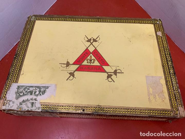 Cajas de Puros: CAJA DE PUROS HABANOS - VACIA - MONTECRISTO N.3. Mide aprox 22,5x15,5x4cms - Foto 4 - 179023181