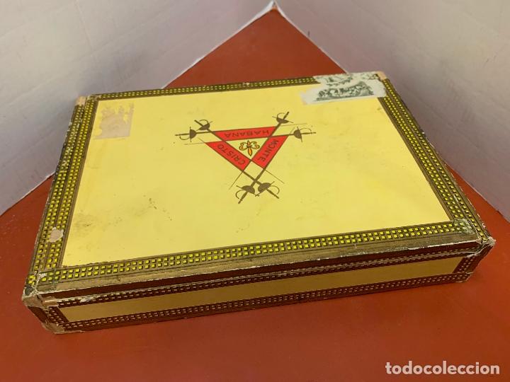 CAJA DE PUROS HABANOS - VACIA - MONTECRISTO N.3. MIDE APROX 22,5X15,5X4CMS (Coleccionismo - Objetos para Fumar - Cajas de Puros)