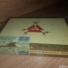 Cajas de Puros: CAJA DE PUROS MONTECRISTO NO.4 CONTIENE 8. Lote 179113928