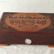 Cajas de Puros: CAJA PARA PUROS.-HUMIFICADOR DE MADERA-SAN CRISTÓBAL DE LA HABANA CUBA.. Lote 179170760