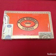 Cajas de Puros: CAJA DE PUROS MARÍA GUERRERO , BOUQUETS 20 UNIDADES Y CAJA VACÍA ORIGINAL DE ESTOS PUROS DE LA PRI. Lote 179210921