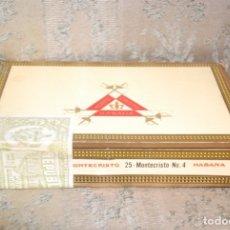Cajas de Puros: CAJA DE PUROS SIN DESPRECINTAR MONTECRISTO 25 Nº4 LA HABANA CUBA. Lote 179225002
