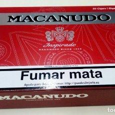 Cajas de Puros: CAJA MADERA PUROS MACANUDO INSPIRADO NICARAGUA 25 X 16 X 6 CM VACIA. Lote 179390327