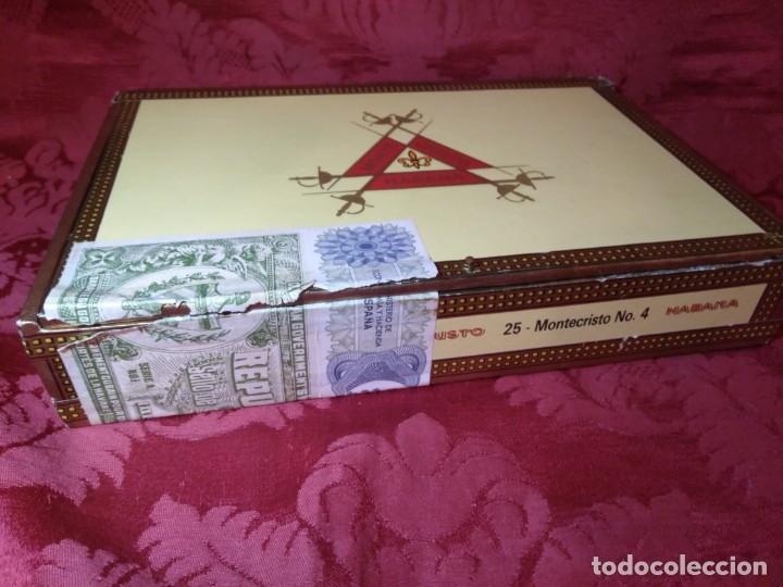 Cajas de Puros: CAJA DE PUROS VACÍA MONTECRISTO - Foto 2 - 179559215