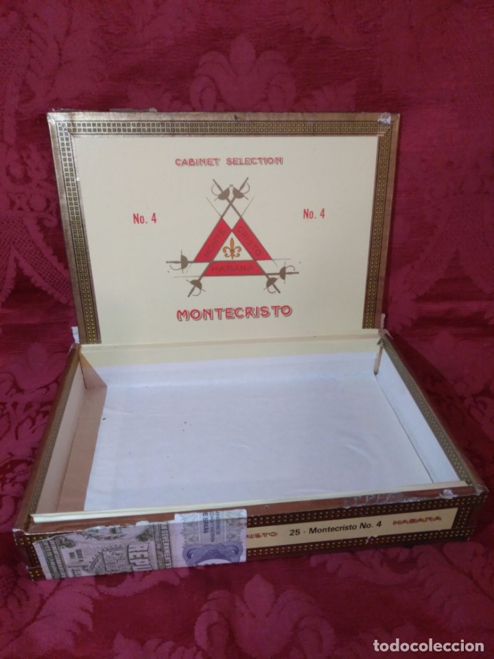 Cajas de Puros: CAJA DE PUROS VACÍA MONTECRISTO - Foto 4 - 179559215