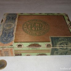 Cajas de Puros: CAJA VACÍA DE PUROS HABANOS, 25 DALIAS, LA SIMBOMBO, SAN LUIS . CUBA. 19 X 13,5 X 3,3 CM.. Lote 180105773