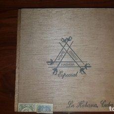 Cajas de Puros: ANTIGUA CAJA DE PUROS HABANOS MONTECRISTO ESPECIAL, (25 ESPECIAL AÑO 1977 VACÍA). Lote 180162176