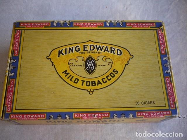 CAJA DE PUROS VACIA KING EDWARS (Coleccionismo - Objetos para Fumar - Cajas de Puros)