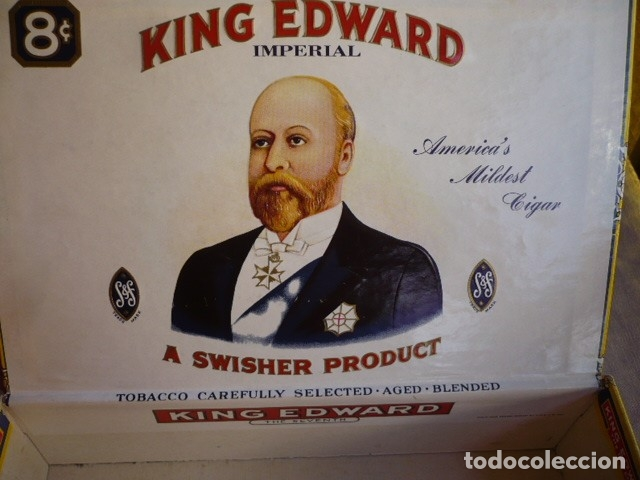 Cajas de Puros: CAJA DE PUROS VACIA KING EDWARS - Foto 2 - 180171156