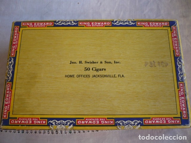 Cajas de Puros: CAJA DE PUROS VACIA KING EDWARS - Foto 3 - 180171156
