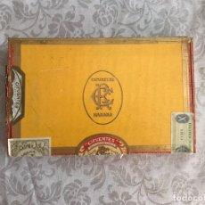 Cajas de Puros: CAJA DE PUROS CIFUENTES HABANA, ABIERTA (08/10 PUROS). Lote 180175363
